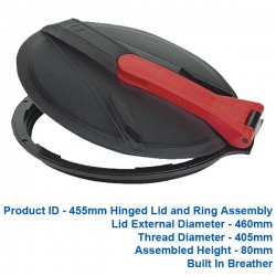 Hinged Lid & Ring - 455mm - $86.00