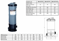 Cartridge Filter - BIA-SCF100 - $699.00