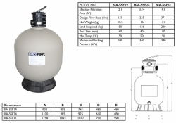 Sand Filter (Excluding Media) - BIA-SSF24 - $593.00