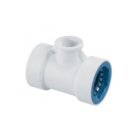 PVC Lock - T-Piece - 1in - 3-4 FBSP - 08671