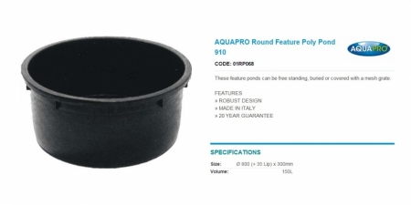 AQUAPRO Round Feature Poly Pond 910