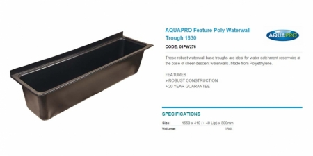 AQUAPRO Feature Poly Waterwall Trough 1630