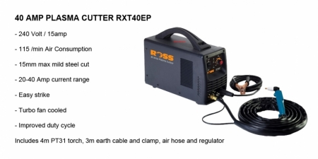 ROSS 40 Amp Plasma Cutter - RXT40EP - $1,028.00