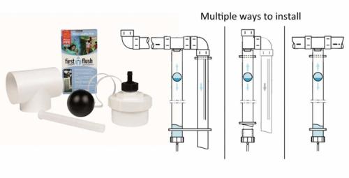 First Flush Downpipe Diverter Kit - 90mm $50.00   100mm $60.00
