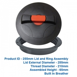 Lid and Ring - 255mm $48.00