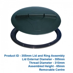 Lid and Ring - 355mm - $60.00