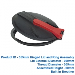 Hinged Lid & Ring - 355mm - $90.00