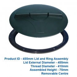 Lid and Ring - 455mm - $70.00