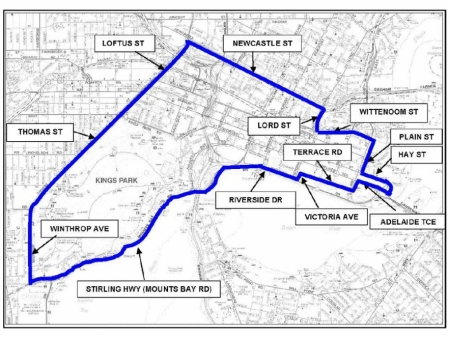 Perth Area Map
