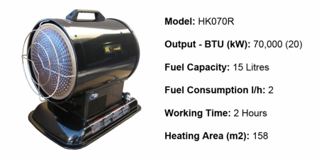 Radiant Diesel Heaters - HK070R - $748.00