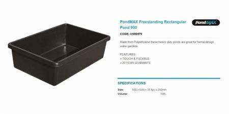 PondMAX Freestanding Rectangular Pond 900