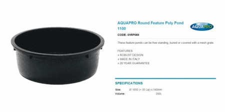 AQUAPRO Round Feature Poly Pond 1100