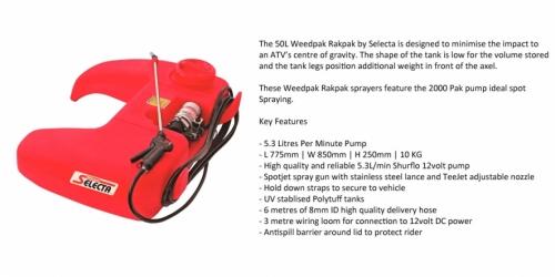 RP50-P1 - Quadbike Sprayer - $459.00
