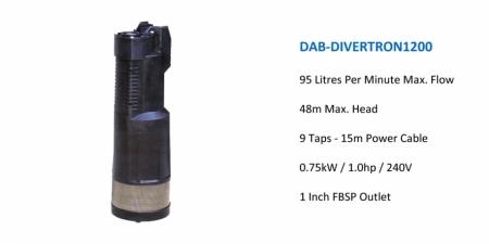 DAB DIVERTRON 1200 - $885.00