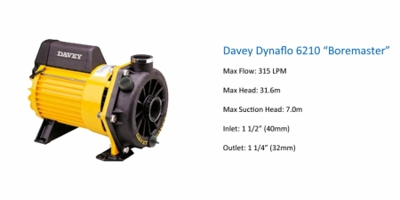 Davey Dynaflo 6210 - Boremaster - P.O.A