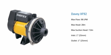Davey XF92 - P.O.A