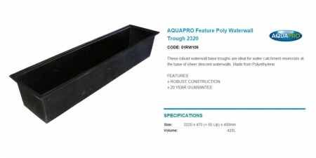 AQUAPRO Feature Poly Waterwall Trough 2320