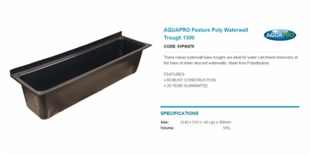 AQUAPRO Feature Poly Waterwall Trough 1300