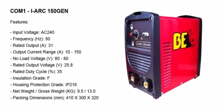 COM1 - I-ARC 150GEN - TIG-ARC - $549.00