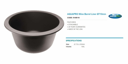 AQUAPRO Wine Barrel Liner Ø710mm