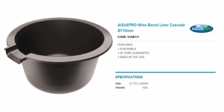 AQUAPRO Wine Barrel Liner Cascade Ø710mm