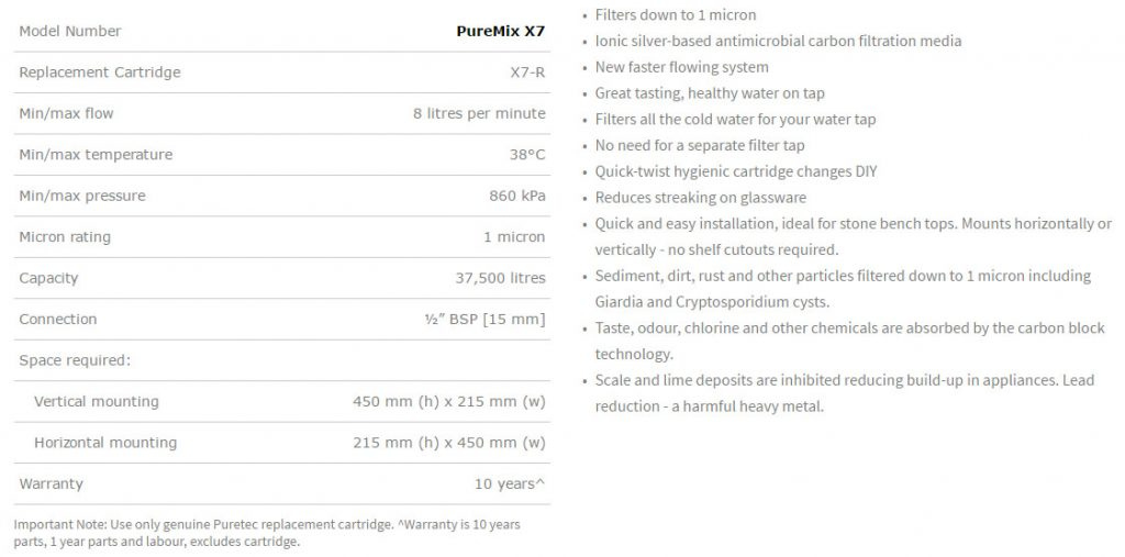 puremix-x7-description